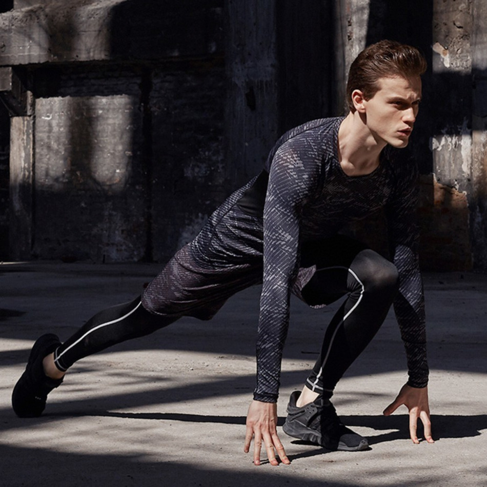 Clearance SaleREXCHI Tracksuit Compression-Clothes Workout-Tights Sport-Wear Exercise Fitness Jogging