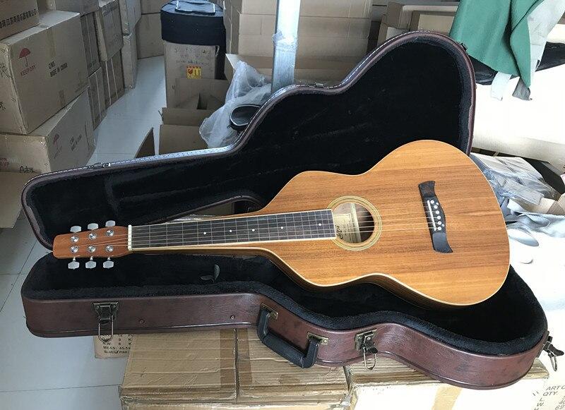 Vintage 1920 style de guitare hawaïenne lminé Koa corps acoustique hawaïen guitare à glissière HG007