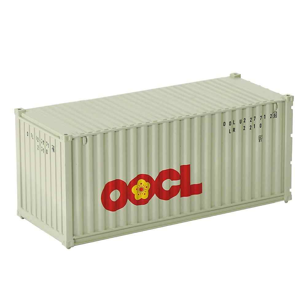 3pcs Mixed Different HO Scale 20 Foot Container 20ft Shipping Container Freight Car Wagon C8726 CHINA SHIPPING OOCL HYUNDAI