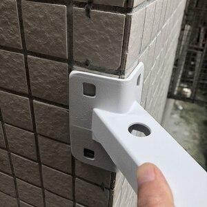 Image 5 - 보안 감시 CCTV IP 카메라 브래킷 화이트 알루미늄 90도 직각 외벽 코너 암 브래킷 CCTV 액세서리