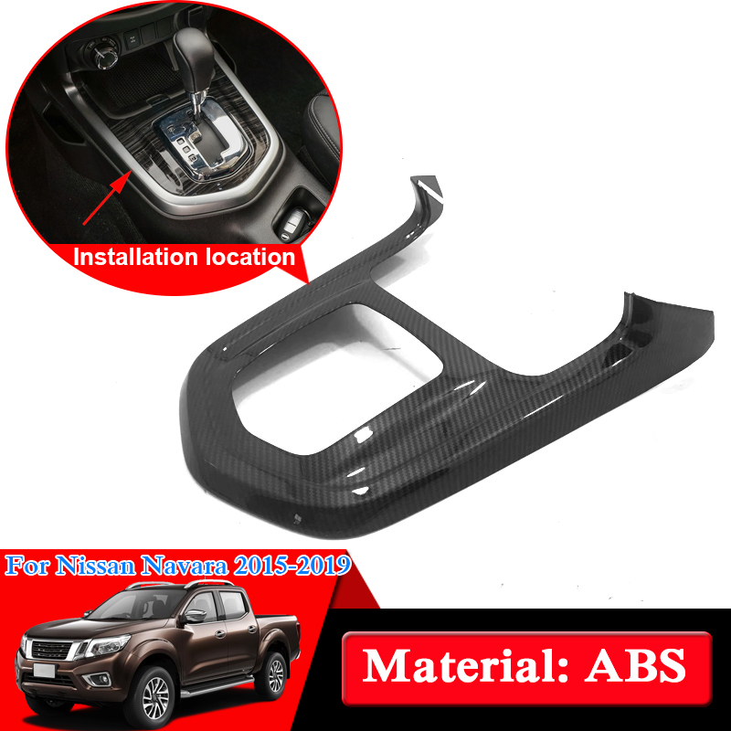 Car Styling ABS Chrome For Nissan Navara NP300 D23 2017 2019 Gear Box Panel Cover Sequin
