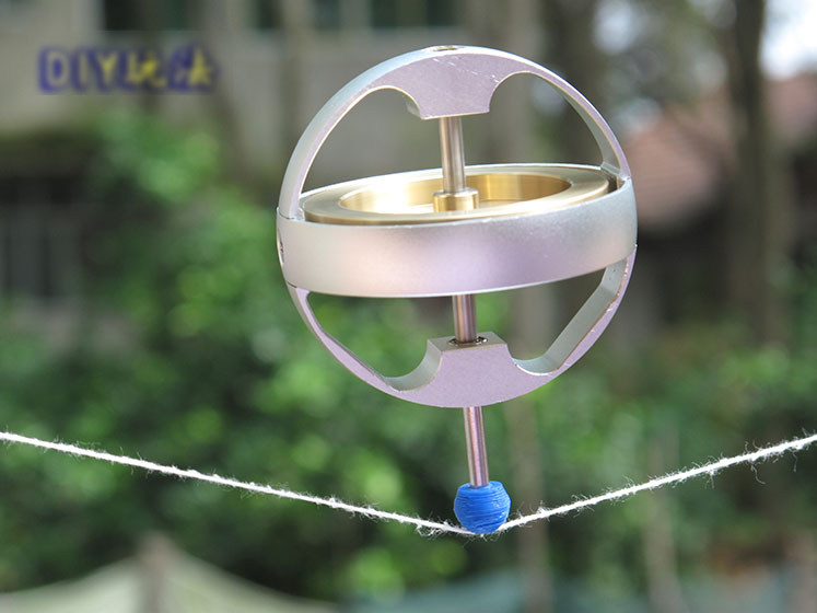 US $150 0 |Amazing Electric Gyroscope Toys Anti Gravity Metal Gyro  Gyroscope Classic Gravity Technology Gifts for child boys Magic teaching-in