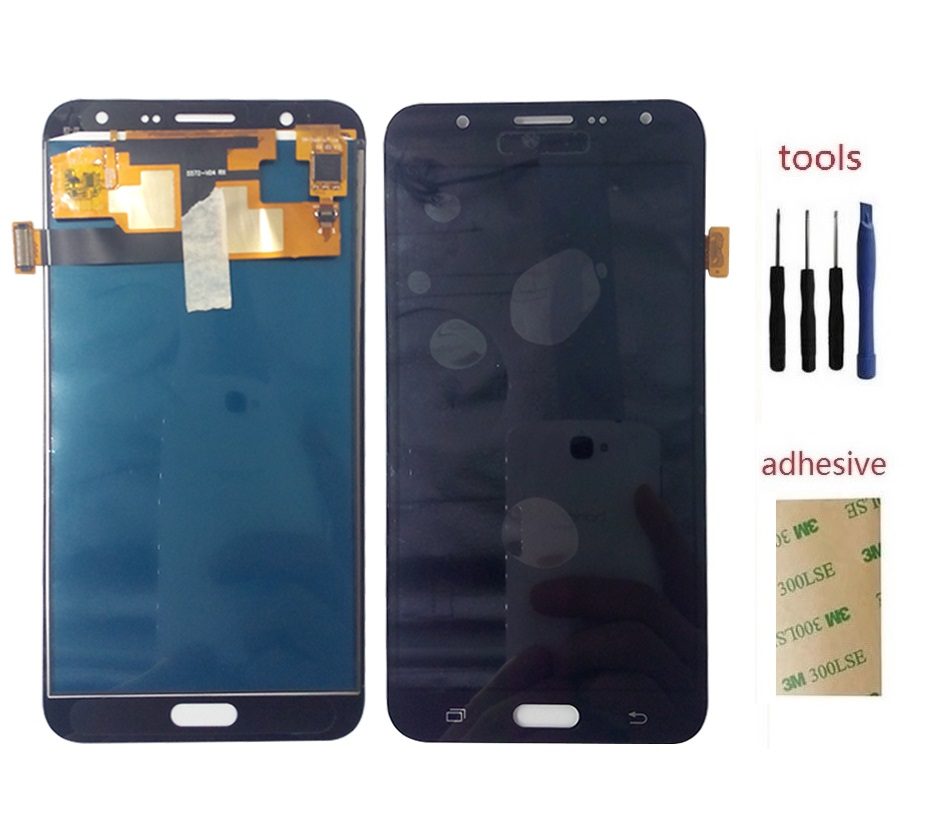 ФОТО For Samsung Galaxy J7 2015 J700 J700F LCD Display +Touch Screen with Digitizer Sensor Assembly + Adhesive +kits
