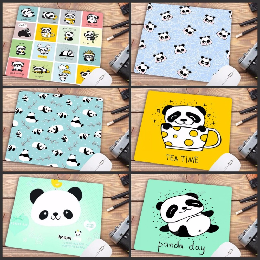 Mairuige Promotion Russia Cute Baby Panda Cartoon Mouse Pad PC Computer Mat Anti-Slip Laptop PC Mice Pad Mat Mousepad 22X18CM