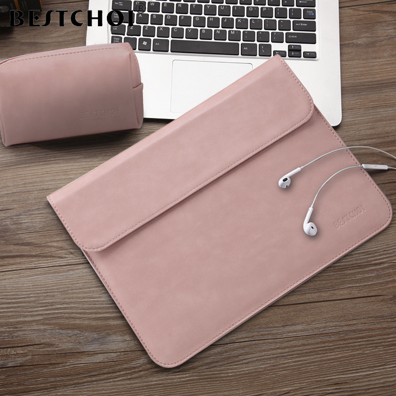 BESTCHOI Laptop Sleeve Bag for Macbook Pro Air 11 13 15 Case Women Men Waterproof Laptop Case Cover 12 13 13.3 14.1 15.4 inch notebook bag 12 13 3 15 6 inch for macbook air 13 case laptop case sleeve for macbook pro 13 pu leather women 14 inch