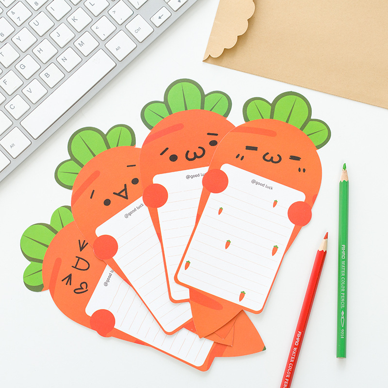 4pcs Paper+2pcs Envelopes Harvest Story Carrot Letter Paper With Simple Envelope Letter Pad Gift Stationery School Office Supply