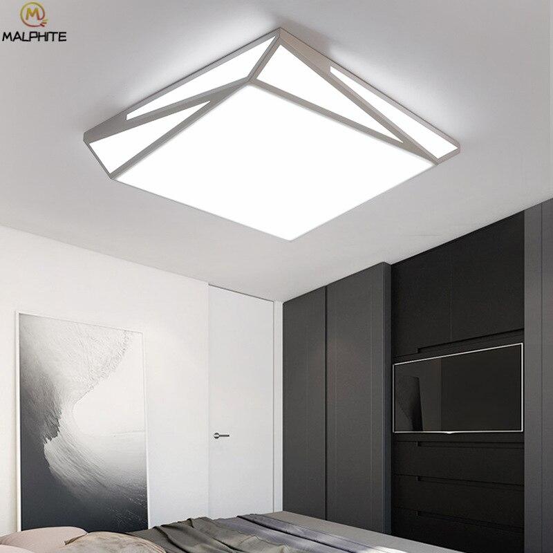 رواية الشمال Led مصباح السقف ل تركيبات المنزل Luminaria الحديثة Led مستطيلة سقف معلق ضوء تركيبات الإضاءة-في أضواء السقف من مصابيح وإضاءات على Cider's Lamp Store