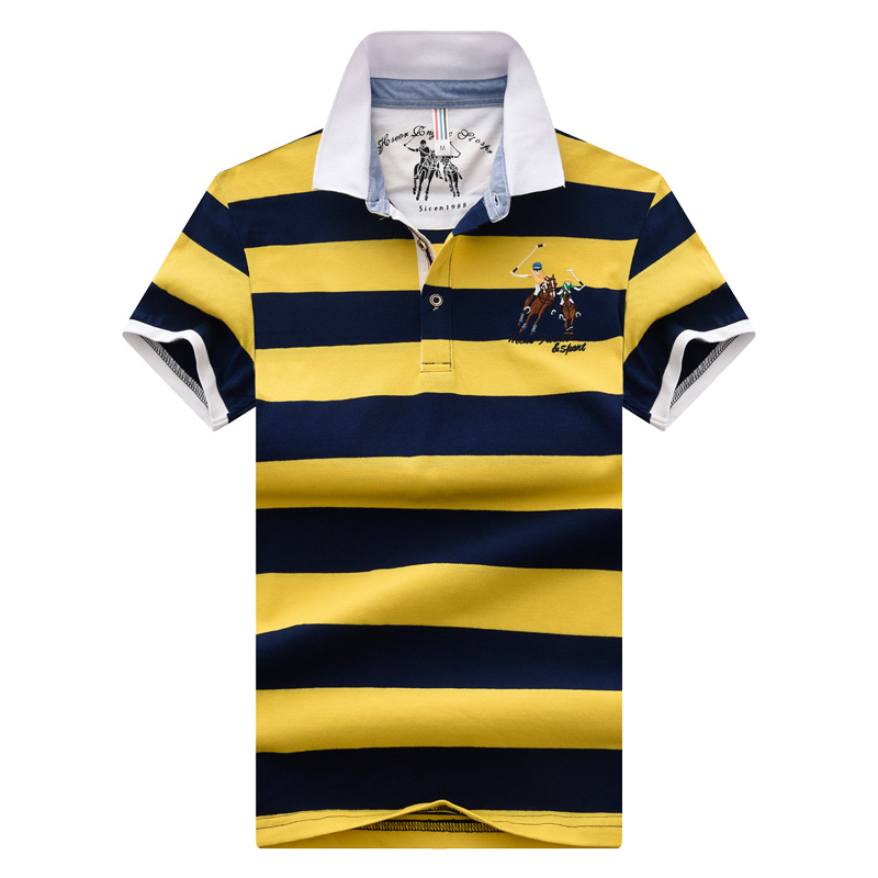 2018 High quality brand   polo   shirt new summer casual striped cotton men short sleeves   polo   Contrast Color   polo   shirts Men tops