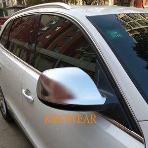 Image 2 - Kibowear dla Audi Q5 8R Q7 4L SQ5 chromowe lusterko boczne kapsle ochronne 2009 2010 2011 2012 2013 2014 2015 2016 srebrny matowy