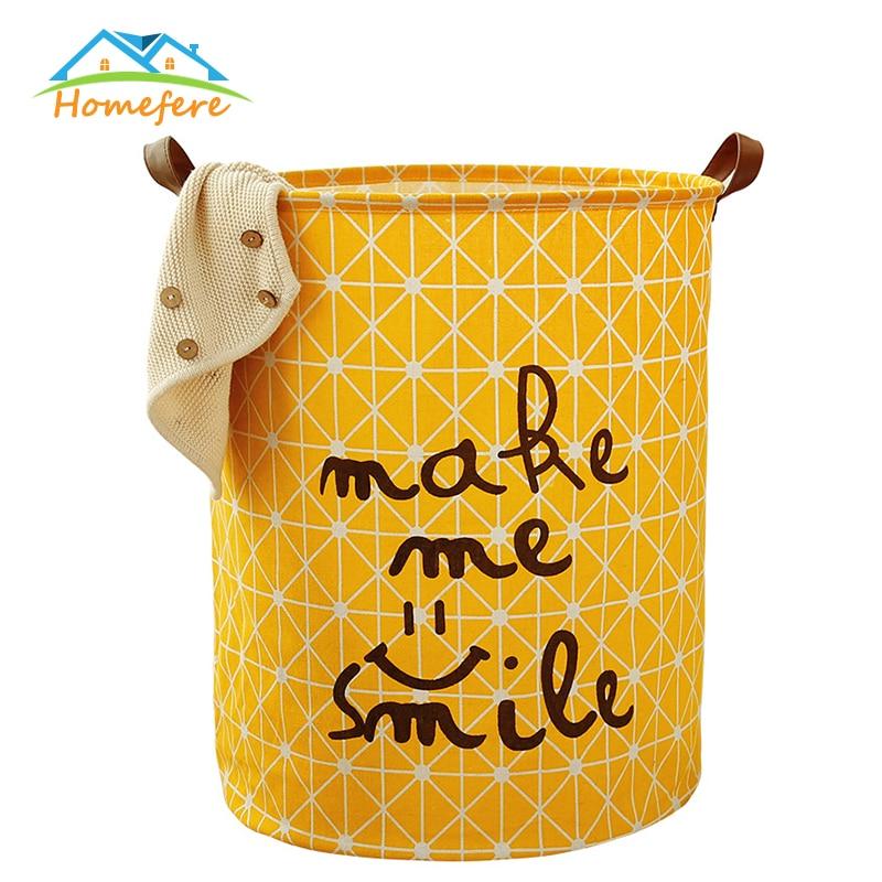 Foldable Laundry Basket Stand Toy Storage Box Large Bag Cotton Dirty Clothes Big Basket Organizer Bin Handle Picnic Basket