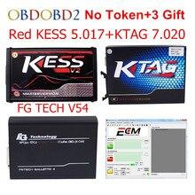 Rojo V5.017 V2.23 + KTAG KESS V7.020 V2.23 + FG V54 TECH 0475 No Token Límite KESS 5.017 + K Tag 7.020 FGTECH ECU K-TAG Programador