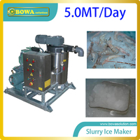 5.0MT per day quality slurry ice maker machine for finshing and meat processing