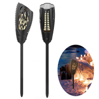 Flickering Solar Torches Light Waterproof 90 LED Dancing Flame Torches Solar Lights Landscape For Garden Path Driveway Highlight