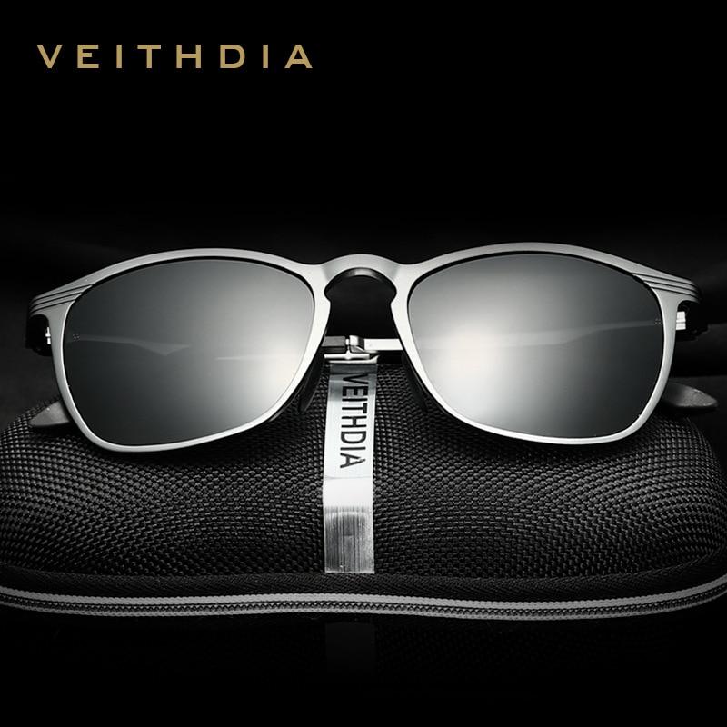 VEITHDIA Unisex Retro alumīnija magnija brilles saulesbrilles Polarizēti lēcas Vintage Eyewear aksesuāri Saulesbrilles Vīrieši / Sievietes 6630