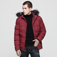 купить European American Fashion Winter Jacket Men Fur Collar Hooded Coats Camouflage Thick Velvet Parka Men Warm Jackets Hombre по цене 2315.37 рублей