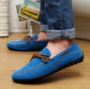 2014 best selling new brand mens leather solid lace up