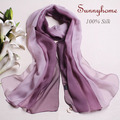 Women american purple 100% silk chiffon cc scarf  shimmer hijab woman orange winter yellow color  brand foulard islamic scarves