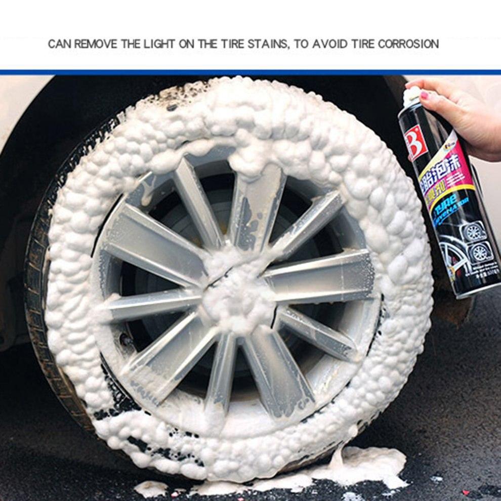 650ML 1PCS Durable Use Auto Car Tire Brightener Foam Cleaning Polishing Oil Wax Car Care Supplies Repair Tool
