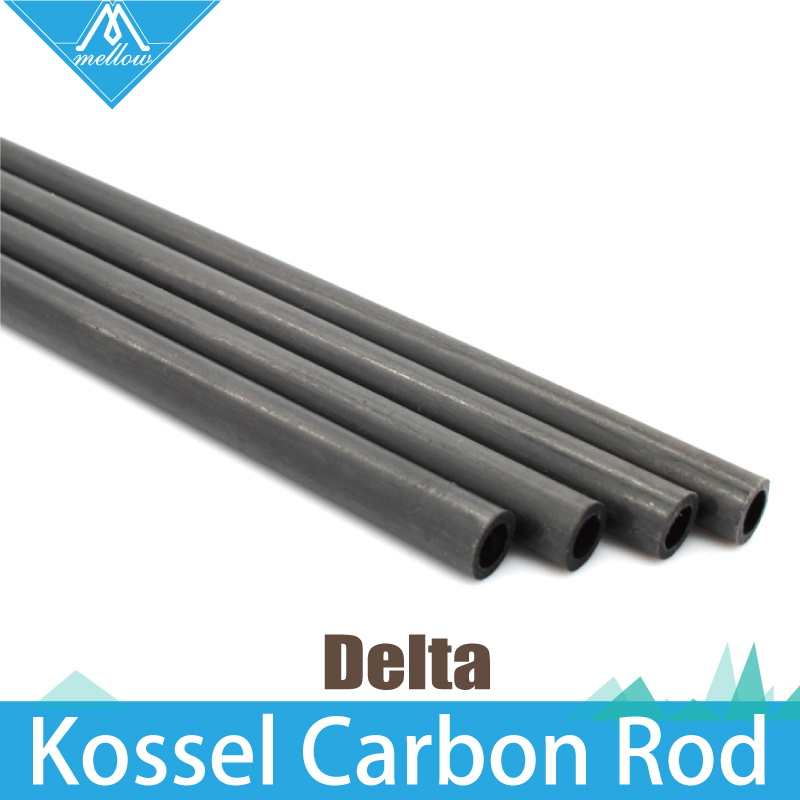 6PCS 3D Printer Accessories Delta Kossel 5 3mm 6 4mm 220 240 300 400mm Fiber Carbon Push Rod Parallel Arm Suitable for Mini 5347