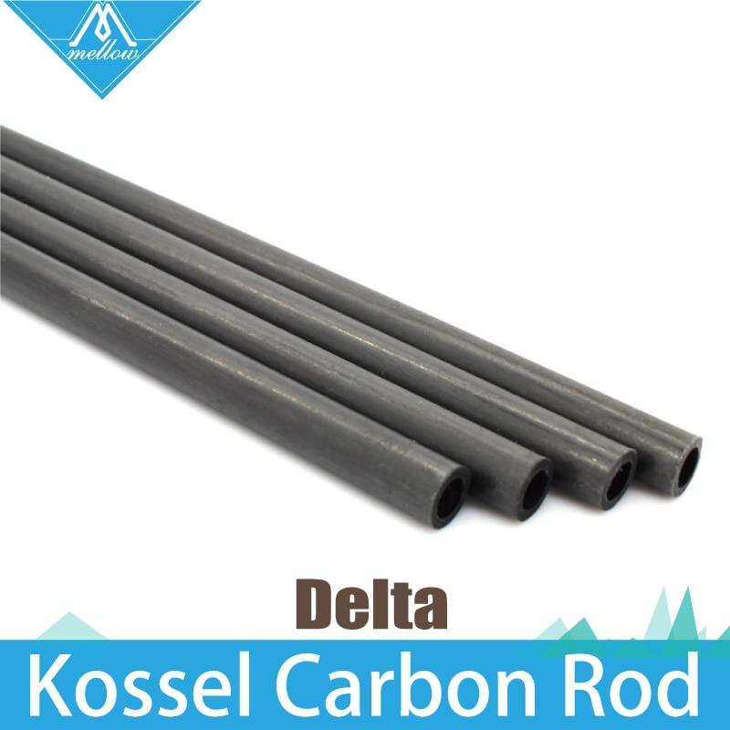 6PCS 3D Printer Accessories Delta Kossel 5 3mm 6 4mm 220 240 300 400mm Fiber Carbon Push Rod Parallel Arm Suitable for Mini 5347