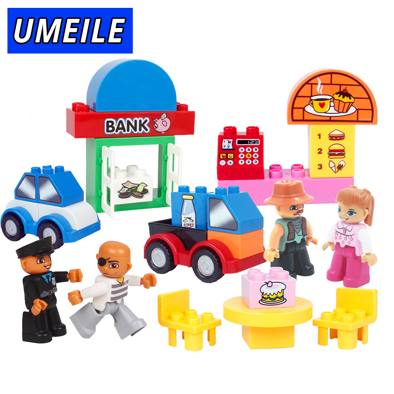 UMEILE 39PCS Original Classic Big Building Block Cowboy Cake City Girl Figure Kids Toys Compatible with Duplo Christmas Gift rs corsar 15 мл 3 мг cowboy cake
