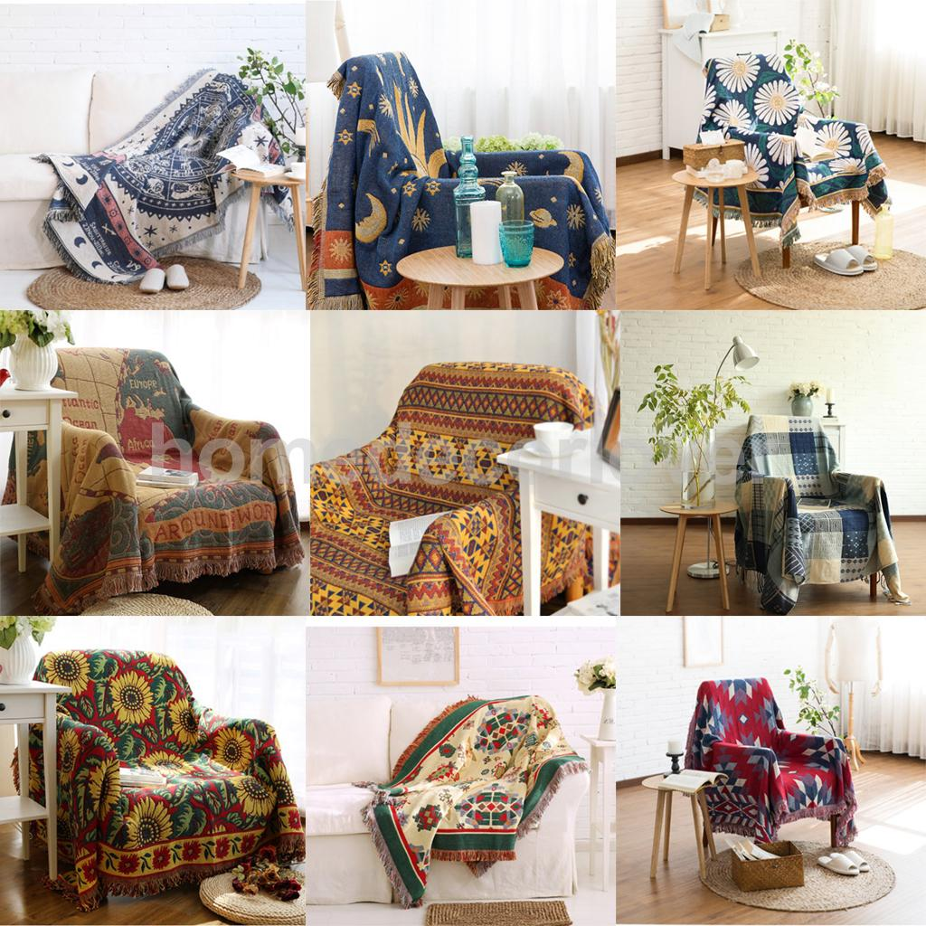 Furniture Protector, Sofa Throw Blanket Armchair Bed Settee Cover Floor Art Decorative Rug