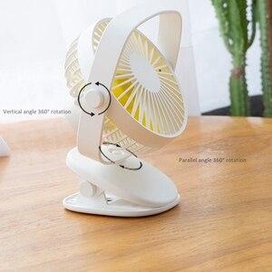 Image 3 - Mini Usb Desktop Fan Two Way Rotary 360 Degrees Portable Mini Desktop Cooling Fan Personal Quiet Fan