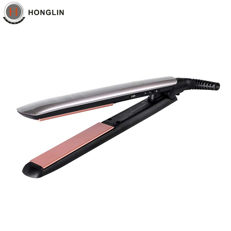 Popular Hair Iron 2018 Best Recommend Fast Heating Up Do Not Hurt Hair Silver Ceramic Dual Voltage Hair Straightener Flat Iron scalding hot hair straightener electric roll curlers straight coil dual use splint buckle bangs essential oils do not hurt hair