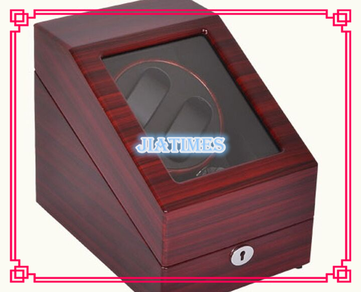 High Quality 2 3 Striped Wine Red Black Watch Winder Wood Case Box Carbon Fiber PU