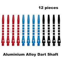 New Aluminum Alloy Darts Shafts; Alu-Stem Shafts; 5 Stripes Design; 3 Colors black blue red;12 pieces ;48mm 2BA Thread
