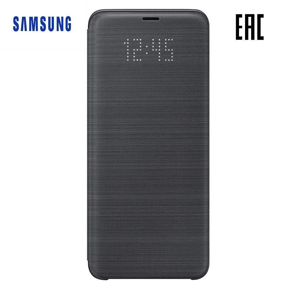 Case for Samsung LED View Cover Galaxy S9+ EF-NG965P Phones Telecommunications Mobile Phone Accessories genuine new top cover for samsung rv509 rv511 rv515 rv520 laptop lcd rear lid back case