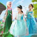 New Cosplay Elsa Dress Anna Long Sleeve Girl Winter Princess Cinderella Kids Rapunzel Children Dress Fantasia Vestidos Halloween