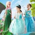 Nova Cosplay Vestido Elsa Anna Princesa Cinderela Crianças Rapunzel Crianças do Inverno Da Menina Vestido de Manga Comprida Fantasia Vestidos de Halloween