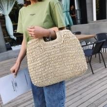 Straw handbags large capacity beach handbag summer retro rattan bag hand-woven travel Bolsas2019 Bohemia