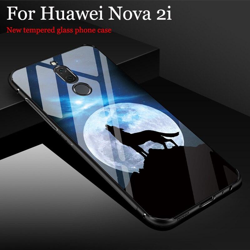 Tempered Glass case For Huawei Nova 2i case RNE-AL00 Cover shell Fashion Mirror For Huawei Nova2i case Nova 2 i phone Cases