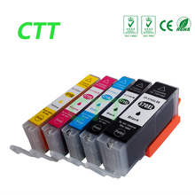 5 pcs Full ink PGI570 CLI571 Compatible  cartridges for Canon  MG5750 MG5751 MG5752 MG5753 MG6850 MG6851 MG6852 MG6853 printer
