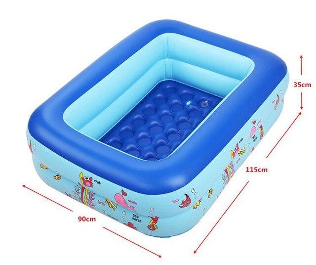 Online Shop Inflatable Pool 2 layers baby children splashing ocean ...