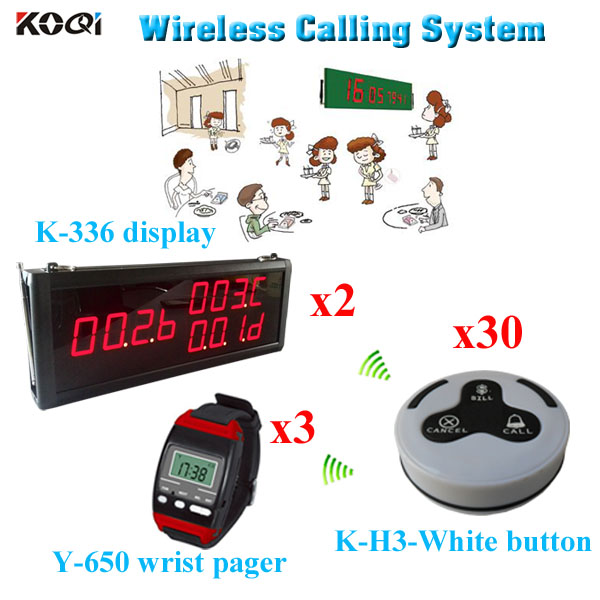 wireless electronic number system For Restaurant with CE ...