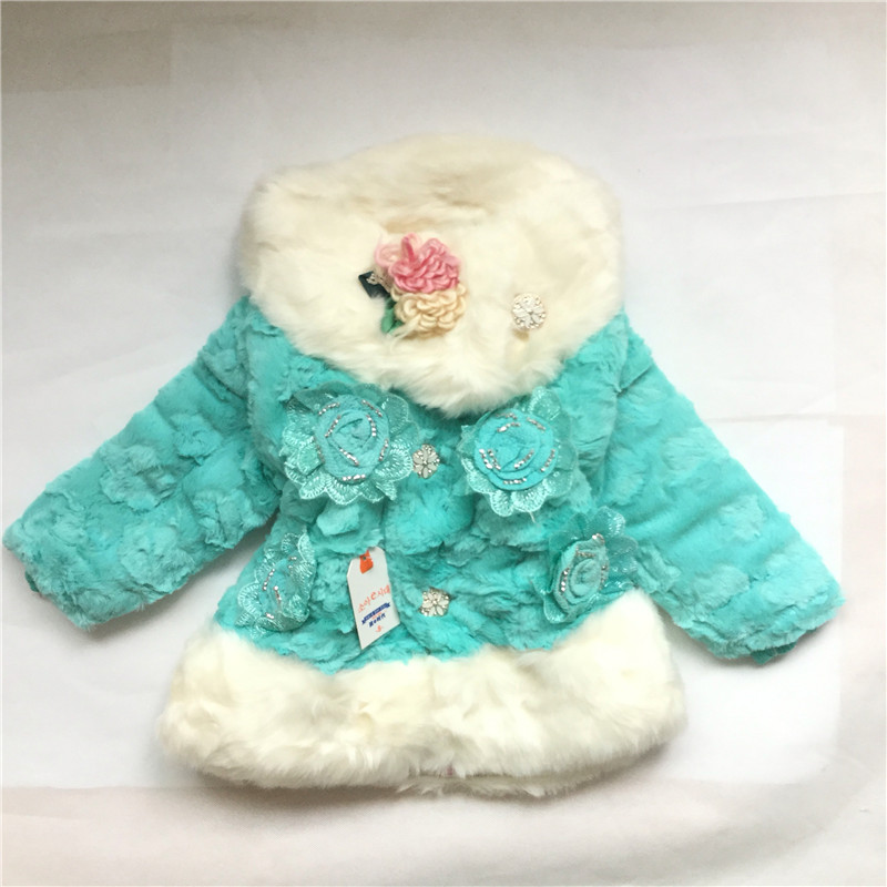0f0689206546 Baby Girl Faux Leather Coat Girl Winter Warm Clothing Kids Girls ...