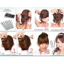 20pcs Pro Hair Bun Clip Maker Pads Hairpins Accessories Tools Kit Set