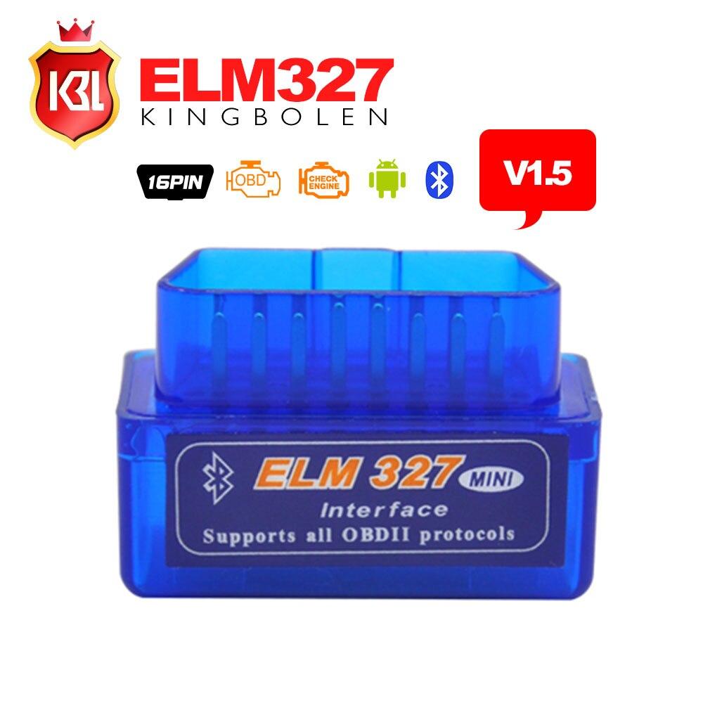 Prix pour Haute Qualité Firmware V1.5 Super Mini ELM327 Bluetooth Avec PIC1825K80 OBD2 Outil De Diagnostic ELM 327 V1.5 Bluetooth avec interrupteur