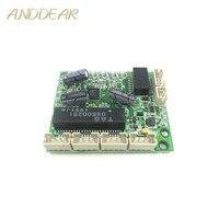 5-port 10/100 Mbps DC3.3V Schnelle Ethernet Mikroschalter Modul Verdrahtung Box Splitter Niedrigen Power PCBA Bord OEM motherboard poe schalter