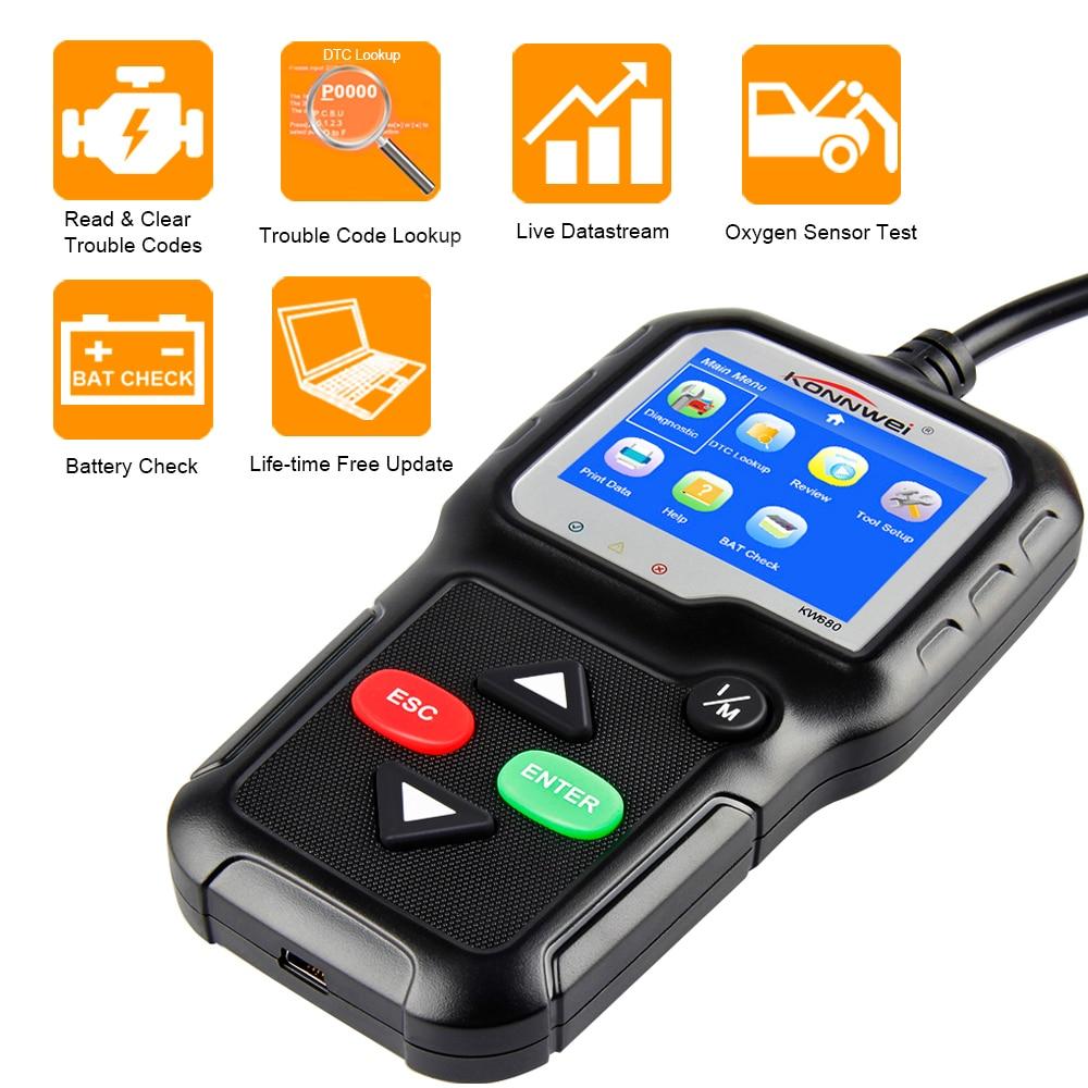 OBD2 Scanner KONNWEI KW680S Auto Diagnose Werkzeug Volle Funktion Auto Scanner Multi-Sprache OBD 2 Coder Reader