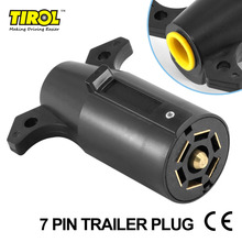 Tirol T21847b7 Pin Trailer Plug  PLASTIC 7 Way Blade Round Connector Plug  RV Parts Male 12V Tow bar Towing  – Trailer End