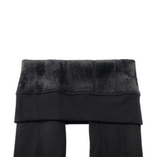 New Winter Thick Velvet Pants Female Warm Outer Wear High Waist Pants Were Thick Stretch Pants Stepped Foot legging