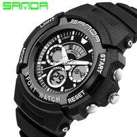 SANDA LED Digital Watch Men Watches 2016 Top Brand Luxury Famous Male Clock Military Watch Sport