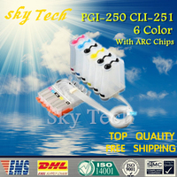 6 Color Empty CISS suit for PGI250 CLI251 , PGI 250 CLI 251 CISS For Canon Pixma MG6320 MG7120 IP8720 etc,With ARC Chips