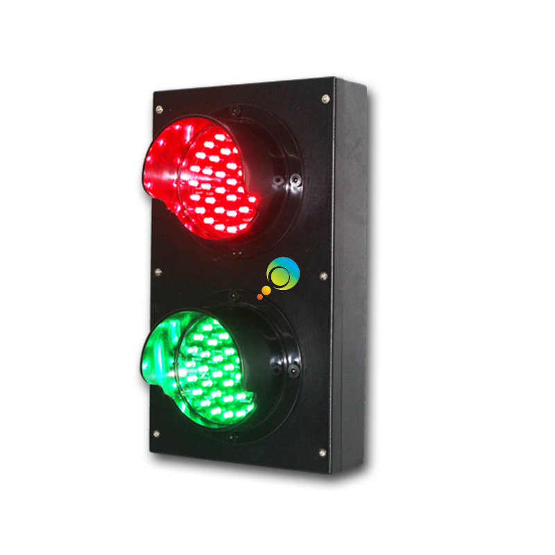High Quality School Education Or Parking Lots New Mould 100mm Red Green School Teaching LED Traffic Signal Light