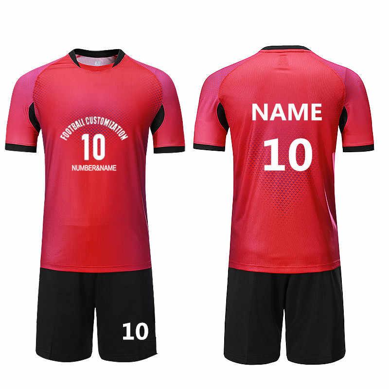 Детские футбольные майки наборы спортивный комплект тренировочный костюм  команда форма без надписей футбольные майки наборы индивидуальн 2d1ae79d226
