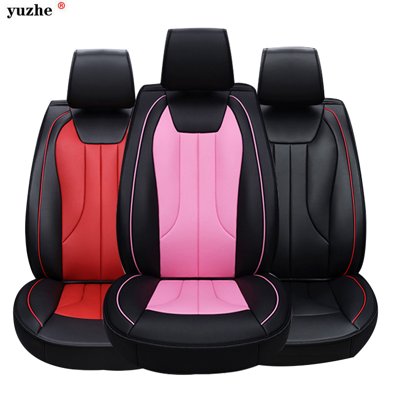 Yuzhe leather car seat cover For Opel Astra h j gmokka insignia mokka corsa ampera AGILA ASCONA COMBO car accessories styling for opel astra zafira meriva ampera agila corsa new brand luxury soft pu leather car seat cover front